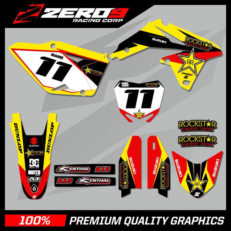 Full  Custom Graphic  Kit Suzuki RMZ 250 2004-2006 AUSSIE PRIDE