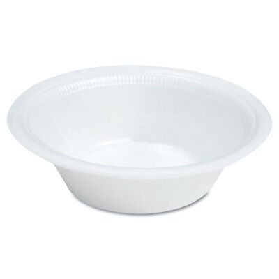 DART Quiet Classic Laminated Foam Dinnerware, Bowl, 12oz, White, (White Laminated Foam Bowl)