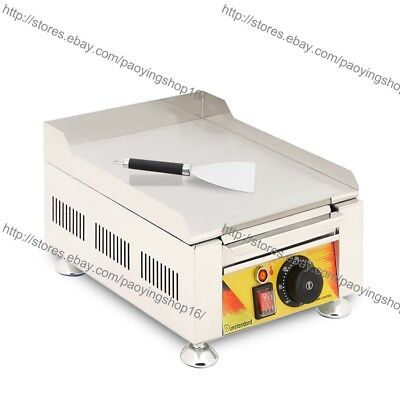 Stainless Steel Commercial Home Electric Countertop Flat Cooking Griddle Grill