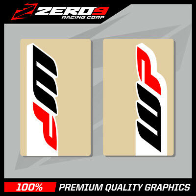 WP UPPER FORK DECALS MOTOCROSS GRAPHICS MX GRAPHICS CLEAR 16