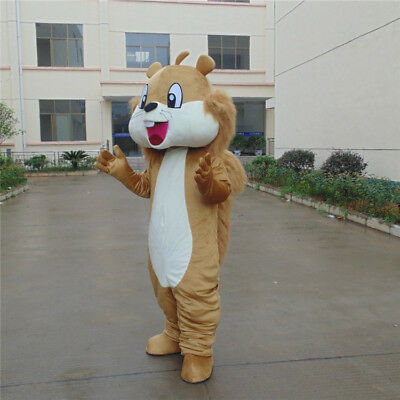 Fancy Dress Squirrel Mascot Costume Animal Cosplay Outfit Lovely Your Best Gift