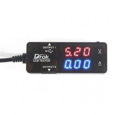 DROK USB 2.0 Digital Multimeter, Ammeter Voltmeter Capacitance and Watt Meter,