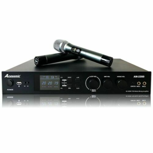 New 2020! Acesonic AM-2350 1400W Karaoke Mixing Amp w/Blutooth/HDMI/Dual Mic