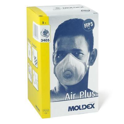 10x Moldex Air Plus 3405 FFP3 R D m Klimaventil Atemschutzmaske Mundschutz Maske