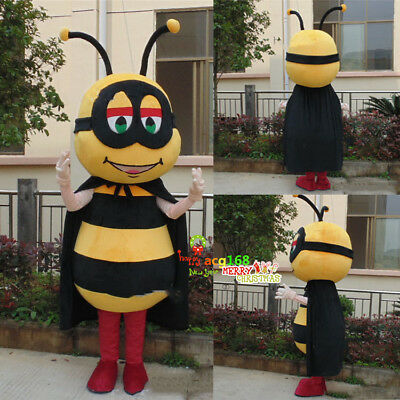 Bee Mascot Suit Outfit Parade Unisex Party Dress Animal Costume Honeybee Cosplay