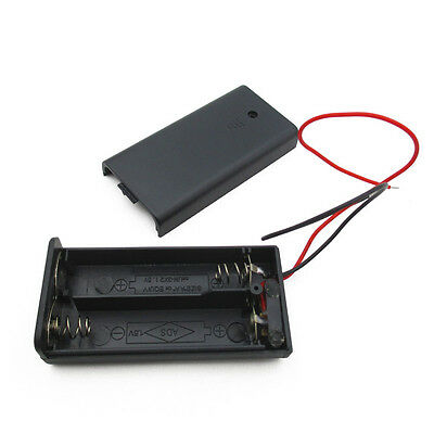 12510pcs 2a Battery Holder Box Case With Onoff Switch And Cover 2aa Battery