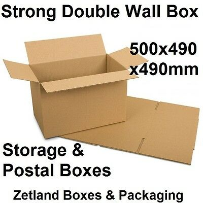 30x Royal Mail Medium Double Wall Cardboard Postal Postage Boxes - 500x490x490mm