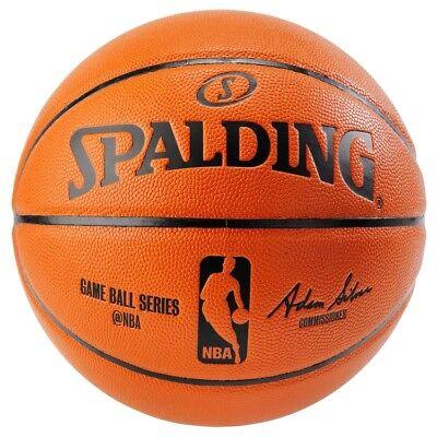 Spalding NBA Replica Indoor/Outdoor Game Ball, Orange, Size 29.5-Inch