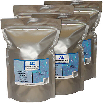 20 Pounds - Copper Sulfate Pentahydrate Crystals - 99 Pure