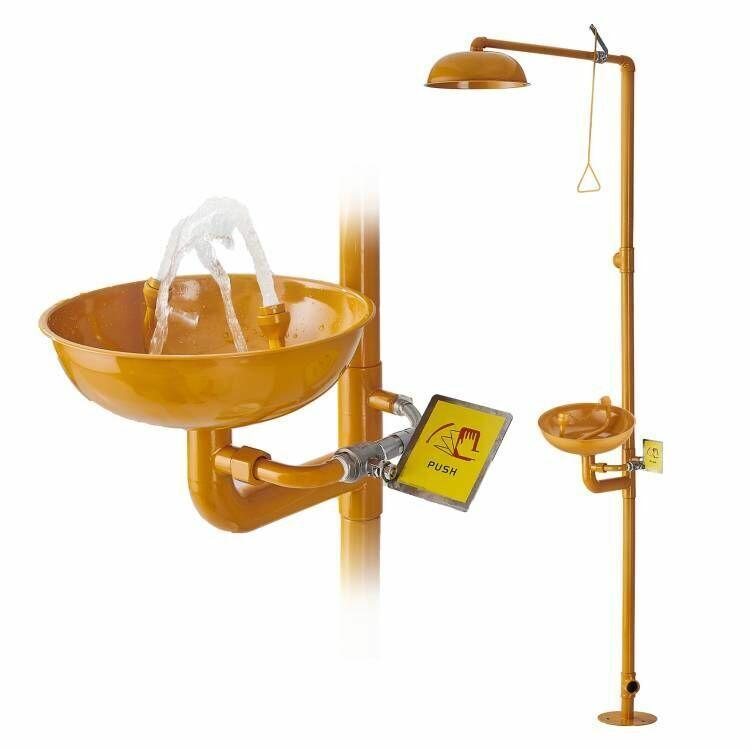 ABS Coating Combination Shower Station and Eye Wash Eyewash Station 304SS