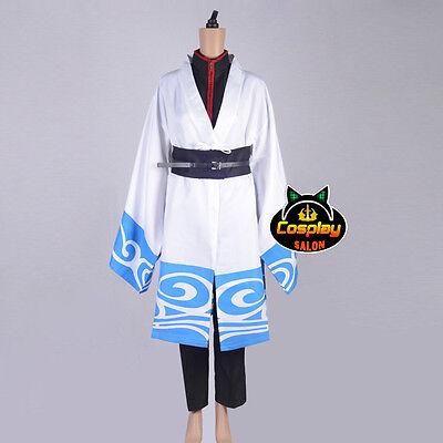Anime Kimono for Gintama Gintoki Men Cosplay Party Costume Halloween Outfit