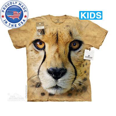 The Mountain Großes Gesicht Cheetah Katze Schön Wildes Tier Süß Kinder T-Shirt