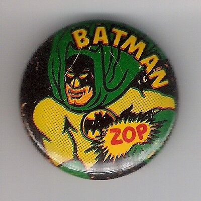 "Vintage Pinback Button Pin Badge 1966  Batman 1 Inch Collection  Batman ""Zop"""