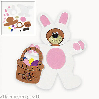 Spring Crafts For Kids (Easter Teddy Bear Magnet Craft Kit for Kids Beary Special Easter Spring)