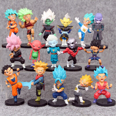16 pcs Dragon Ball Z Action Figures Super Saiyan Goku Vegeta Trunks Toy Figurine