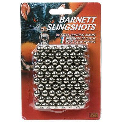 Barnett STEEL .38 Slingshot Catapult Ammo 140 Pack Black Widow Cobra Pro Diablo