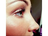Silk or mink individual eyelashes extensions