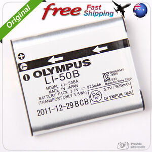 New Genuine Original Olympus LI-50B LI50B Li-Ion Battery (3.7V 925mAh) .