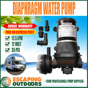 12V Caravan Camping Diaphram Water Pump for 2-3 taps 12.5 L/pm