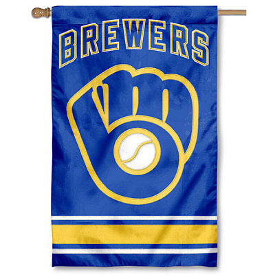 Milwaukee Brewers Two Sided Embroidered Nylon House Flag