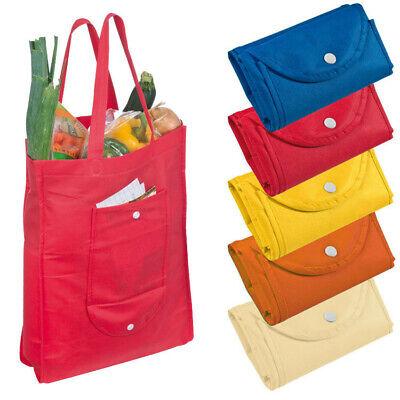 5x Non-Woven Einkaufstasche / Farbe: je 1x blau, rot, gelb, orange und beige