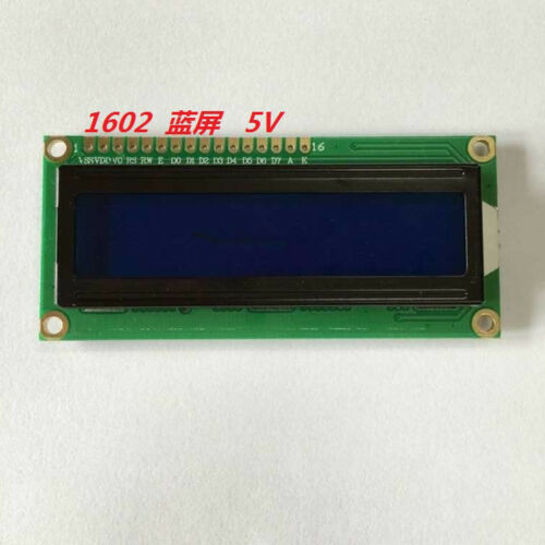 1pc New 1602 Lcd Screen (blue Screen) Lcd Screen With Backlight