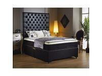 ❤🔥❤PROMO SALE 4 LIMITD TIME❤🔥❤NEW Double/King Divan Bed W/ 2000 POCKET SPRUNG+MEMORY FOAM Mattress