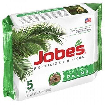 Jobe's Palm Tree Fertilizer Food Spikes, Outdoor, 5-Pack, 10