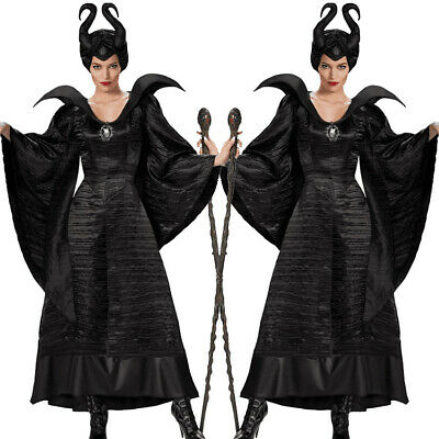 Adult Maleficent Evil Queen Cosplay Costume Outfit Ladies Fancy Dress Size M-XL - Evil Queen Cosplay
