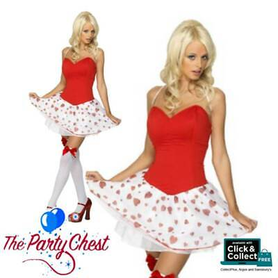 Cute Cupid Costume (FEVER CUTE CUPID COSTUME Womens Dress Wings Valentines Fancy Dress Outfit)