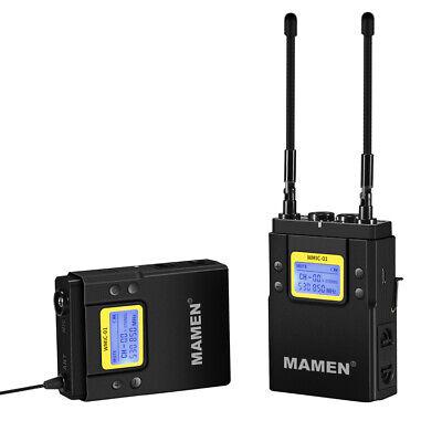 Mamen WMIC-01 Profesional Uhf Doble Canal Digital Inalámbrico Micrófono Sistema