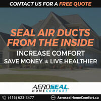 HOT/COLD Rooms? Seal Your Air Ducts with Aeroseal - FREE QUOTE!