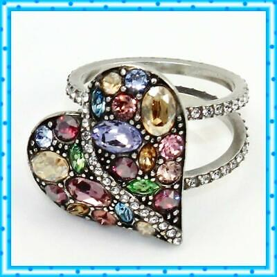 Brighton Trust Your Journey Heart Size 9 Ring NWOT $78
