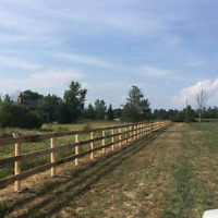 Farm fencing post pounding services