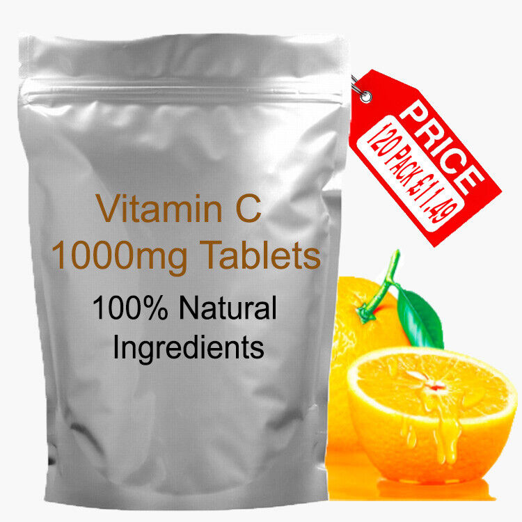 120 x Vitamin C 1000mg Acid Immune Health Antioxidant High Strength Tablets