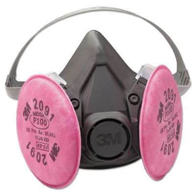 3M 6291 HALF MASK RESPIRATOR WITH 2091 FILTER PADS DUST PARTICULATE MEDIUM USA