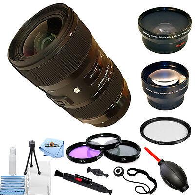 Sigma 18 35Mm F 1 8 Dc Hsm Art Lens For Nikon Pro Bundle Brand New