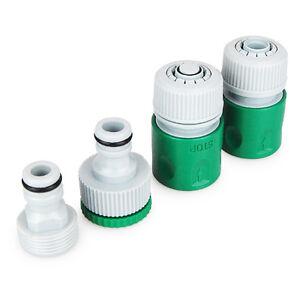 Gartenschlauch Adapter Set, 4-Teilig, für den Wasserschlauch Anschluss