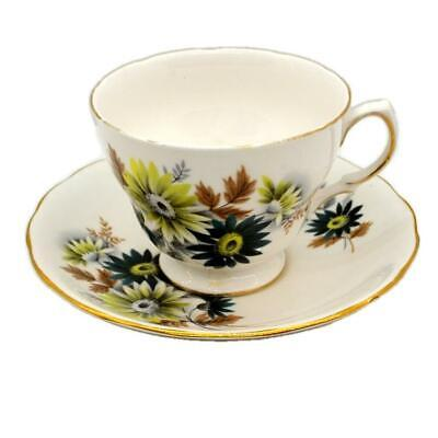 Queen Anne Floral China Teacup and Saucer 8223