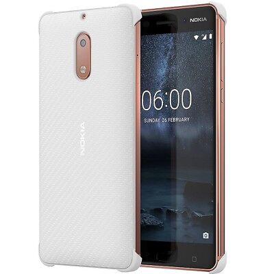 9700 Cover (Original Nokia Carbon Fibre Design Case HardCover für Nokia 6 - CC-802 - Weiß)