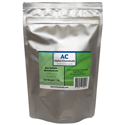 Zinc Sulfate Monohydrate Powder - 35.5 Zn - 1 Pound