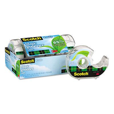 Scotch Magic Greener Tape In Refillable Dispenser 34 X 600 1 Core 6pack