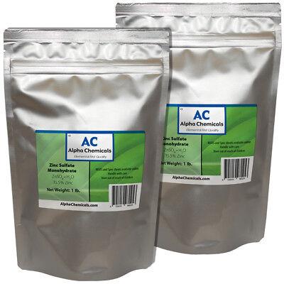 Zinc Sulfate Monohydrate Powder - 35.5 Zn - 2 Pounds