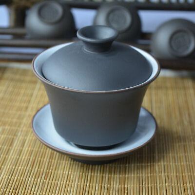 Yixing Clay Mud Gaiwan Tea Cup Zisha Gongfu Tea Lidded Bowl Saucer Bowl 100ml for sale  China