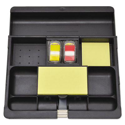 Post-it Recycled Plastic Desk Drawer Organizer Tray Plastic Black C71