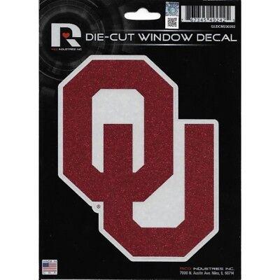 oklahoma sooners ncaa college team logo glitter die cut vinyl decal usa made