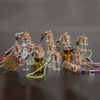 4X Cute 1~5ml Mini Cork Stopper Glass Vial Jars Containers Drift Wishing Bottle - Cute Jars
