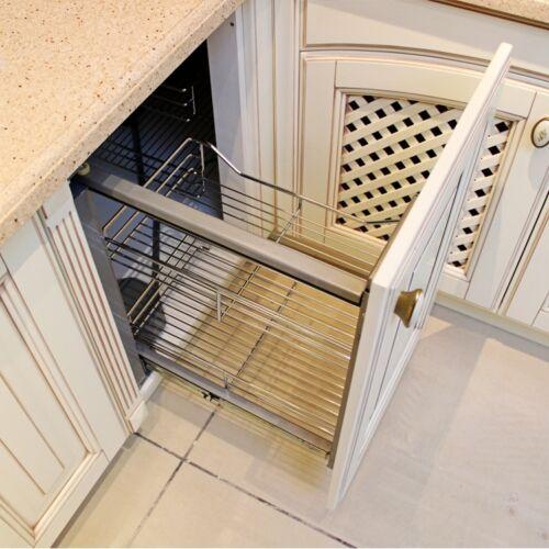 Kitchen Cabinets Basket Drawer: Pull Out Wire Cargo Basket Kitchen Larder Storage Cupboard