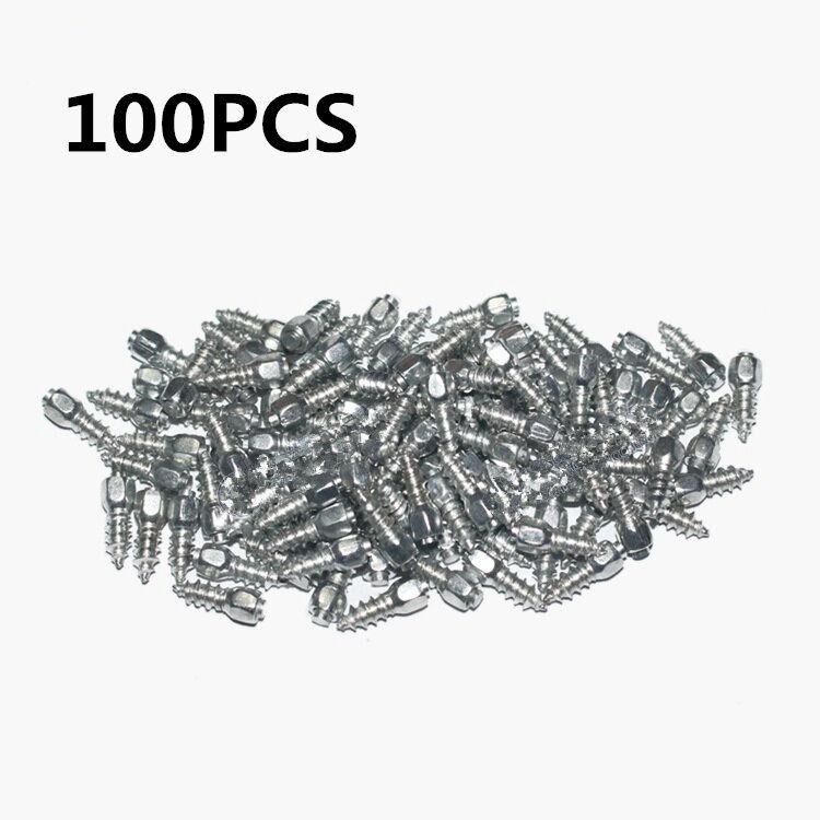 100pcs 12mm Screw Spikes Trim Car/Truck/ATV Wheel Tyres Snow Chains Spikes Studs