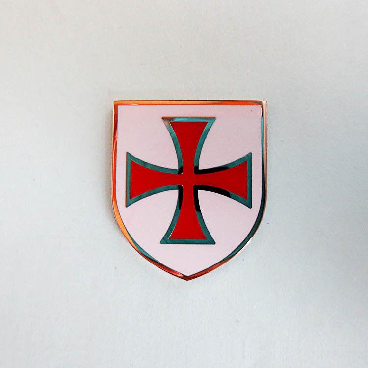 Masonic Lapel Pins Badge Mason Freemason B47 Knight Templar Red Crossed Shield